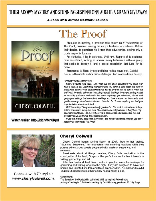 Cheryl The Proof author sheet